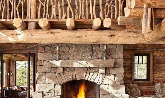 Einrichtungsideen wohnzimmer f r stylisches wohnzimmer - Kamin rustikal ...
