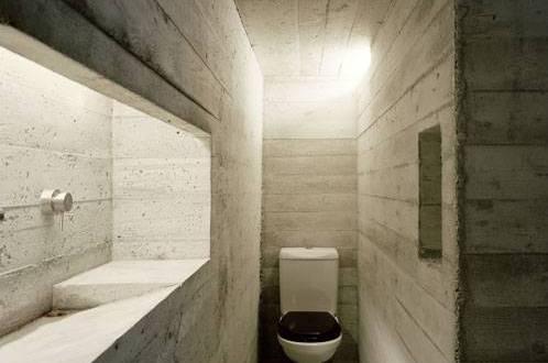 Extreme gestaltung eines badezimmers aus beton kleine for Gestaltung eines badezimmers