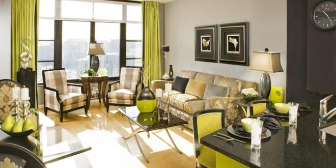 Farbgestaltung wohn esszimmer in gr n und schwarz freshouse - Farbgestaltung esszimmer ...