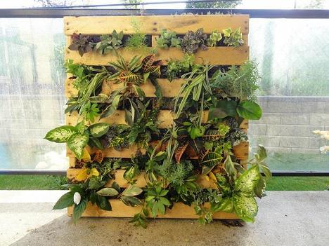 balkon bepflanzen und gestalten mit planzer aus paletten