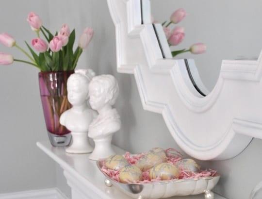 sideboard weiß dekorieren zu ostern 2015
