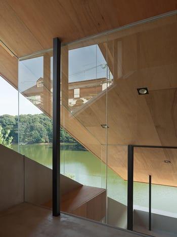 terrassierte raumteilung eines modernen haus