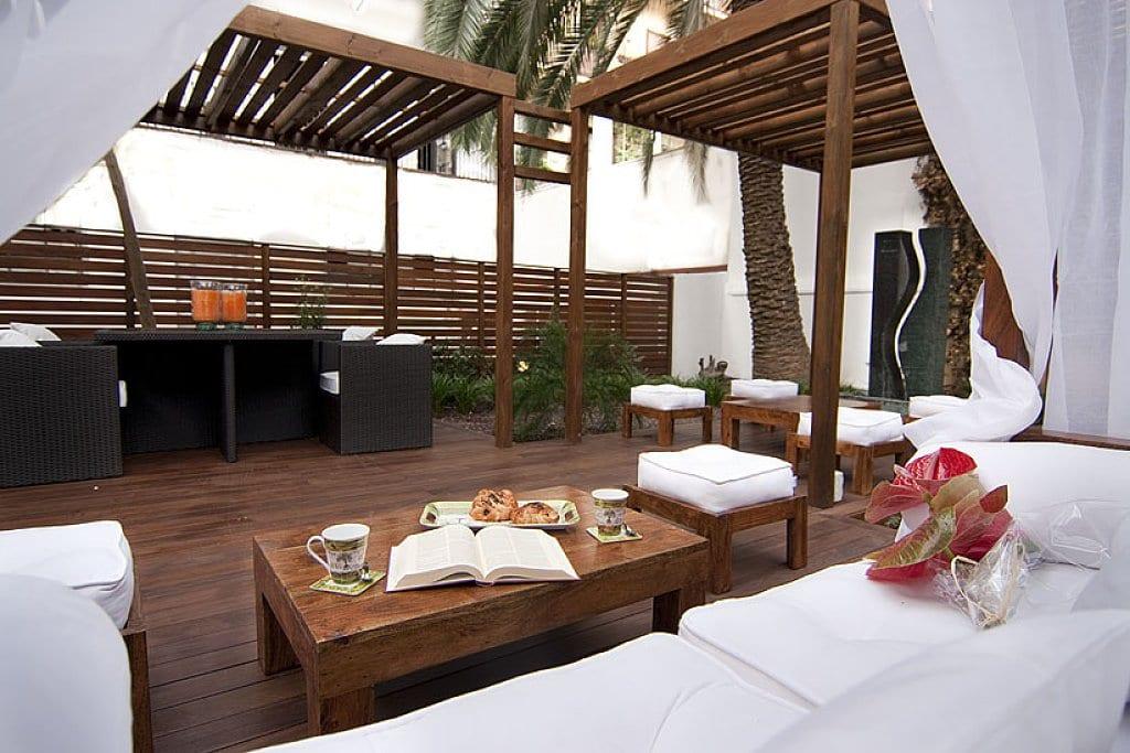 terrassenmöbel gastronomie aus holz