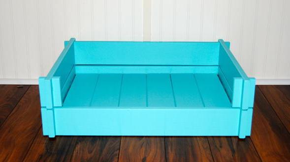 hundebett aus paletten blau freshouse. Black Bedroom Furniture Sets. Home Design Ideas