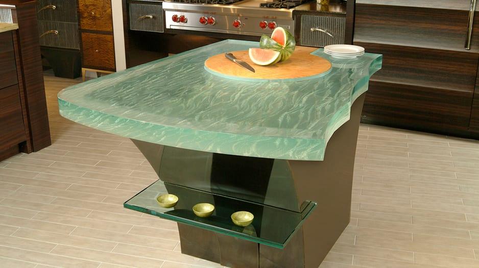 dicke glasplatten für moderne küchenarbeitsplatten und kochinseln-think glass