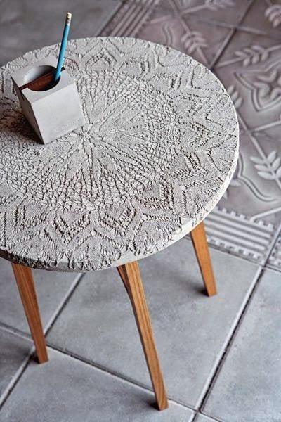 coole ideen für basteln mit beton-runde kaffeetisch selber bauen