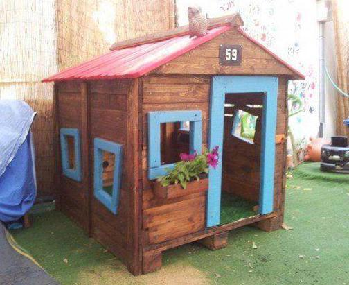 kinderhaus bauen mit paletten