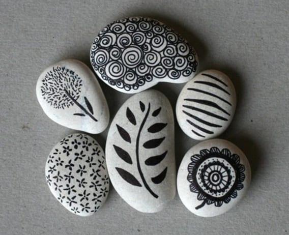 coole dekoration mit steinen-kreative bastelideen zum selber machen