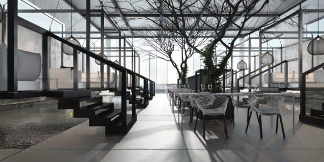 Kreative raumgestaltung betonboden und metalltrepen for Kreative raumgestaltung