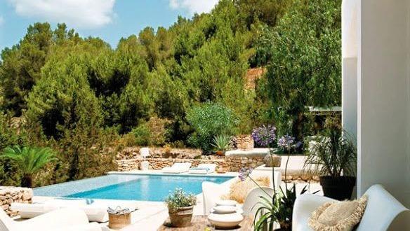 Luxus mediterrane terrasse gestalten mit modernen wei en - Mediterrane wandfarben ...