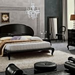 schlafzimmer inspiration mit wandfarbe grau und luxus möbel set schwarz-von camelgroup