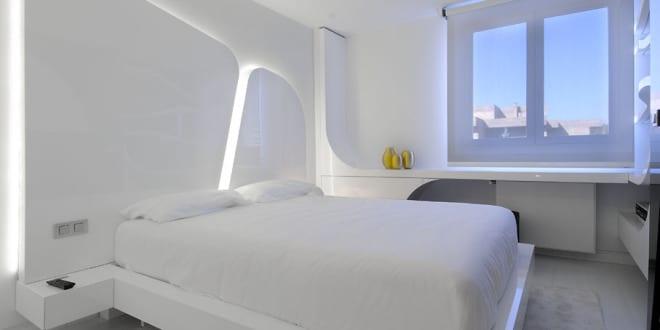 luxus schlafzimmer weiß-schicke Maisonette - fresHouse