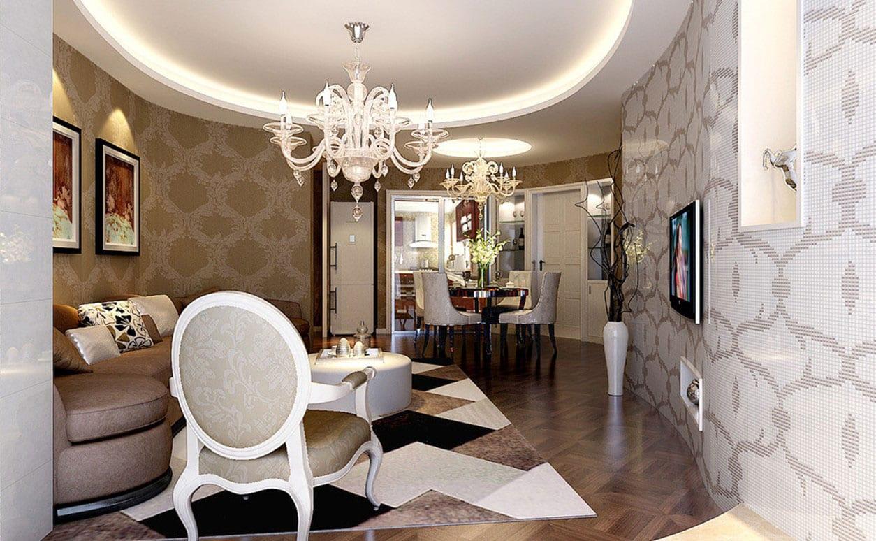 wohnzimmer beige mit polstersofa beige-parkettboden mit traumpeppich in schwarz und beige
