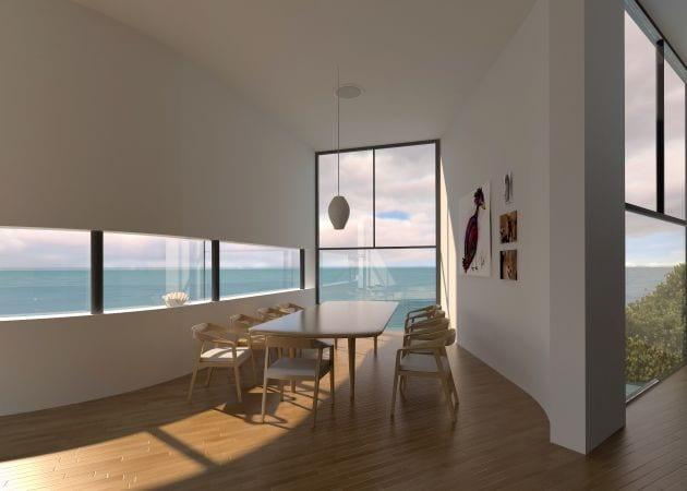 ideen für raumgestaltung mit weißen wänden und holzbodenbelag