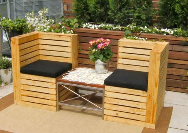 moderne gartenm bel aus paletten freshouse. Black Bedroom Furniture Sets. Home Design Ideas