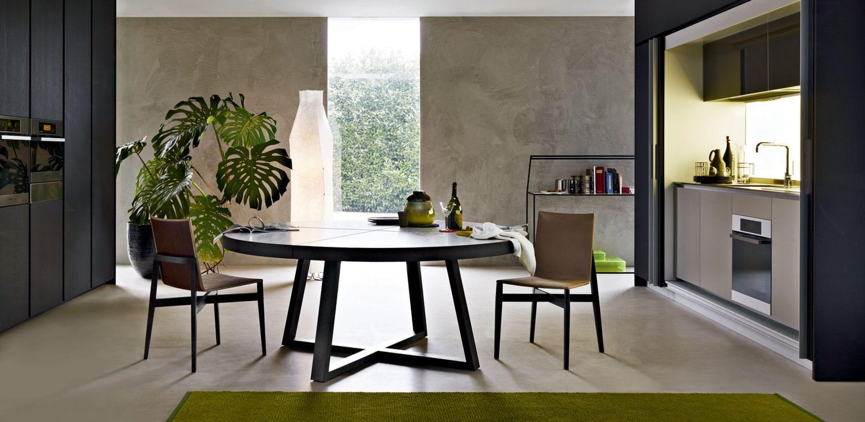 runder tisch schwarz für moderne küche in schwarz mit teppich grün