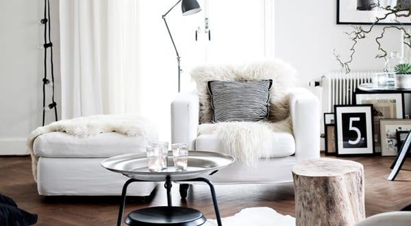moderne schwarz wei e wohnzimmer freshouse. Black Bedroom Furniture Sets. Home Design Ideas