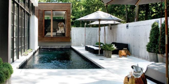 Moderne terrasse gestalten mit betonboden und betonmauern freshouse - Terrasse gestalten ideen stile ...