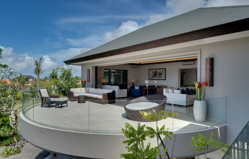 terrasse gestalten mit terrassenmöbel rattan