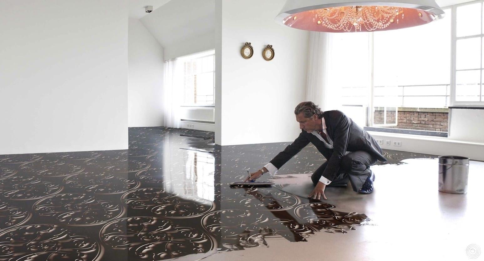 luxus bodenbelag mit 3D textur für luxus wohnzimmer