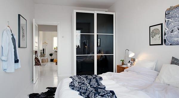modernes appartement mit schlafzimmer schwarz weiß - fresHouse