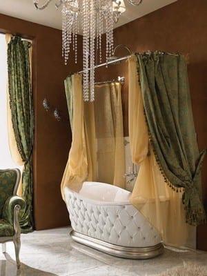 badezimmer mit wandfarbe braun und gardinen dekorationsvorschläge-luxus badewanne weiß aus leder
