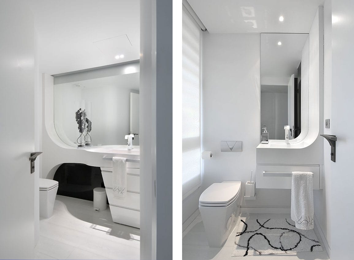 luxus badezimmer design in weiß - moderne badezimmermöbel