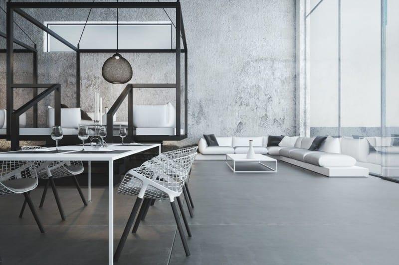 restaurant interior ideen mit metallkonstruktion schwarz und moderne weiße seats and sofas