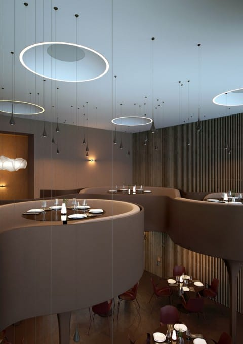 restaurant interieur design barhocker