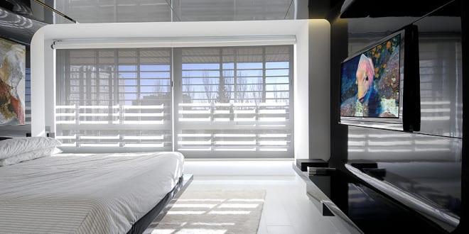 modernes schlafzimmer schwarz weiß-Maisonette Raumgestaltung ...