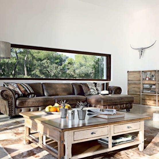 mein wohnzimmer mit couchtisch aus holz rustikal