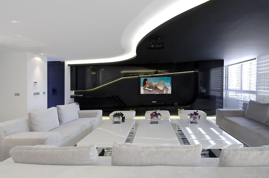 Schwarz Weie Wohnzimmer Inspirationen Mit Wohnwand Schwarzem Lack Und Decke