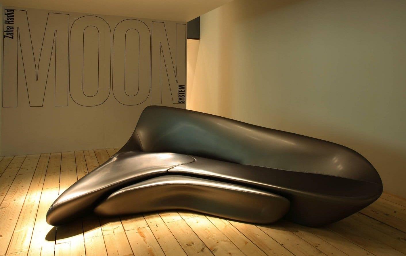 ergonomisches sofa grau aus polyurethane für Fläxibilität und schickes Interieur Design