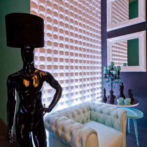 luxus interior design mit beleuchteten 3d wandpaneelen