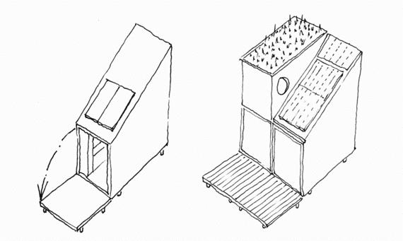 kleines haus ideen-modular und energieeffizient