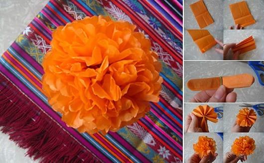 bastelideen aus papier für Ringelblume