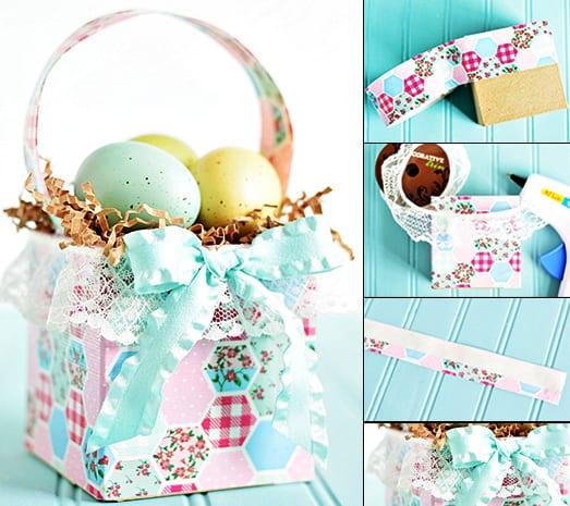 bastelideen ostern_DIY osternest aus geschenkpapier