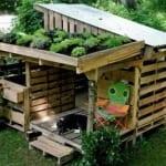DIY Hundehütte mit dachgarten als kräutergarten