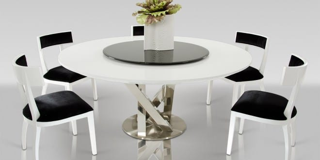 runder tisch wei f r esszimmertisch freshouse. Black Bedroom Furniture Sets. Home Design Ideas