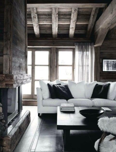 Holzbalken Wohnzimmer Modern