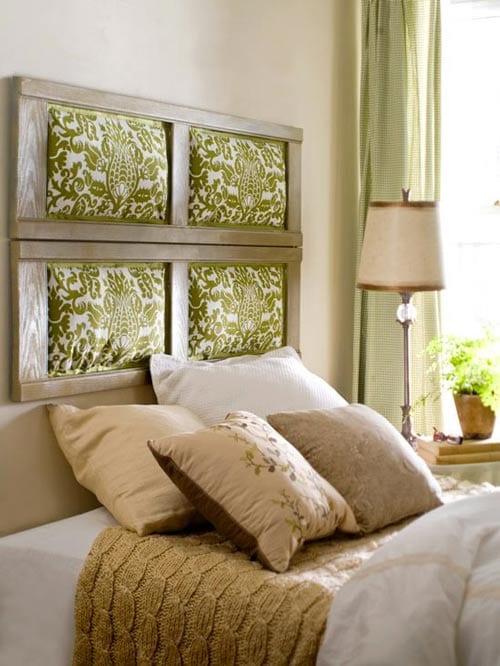 Schöner Wohnen Schlafzimmer Inspiration Mit Wandgestaltung Aus Holzrahmen  Und Textilien