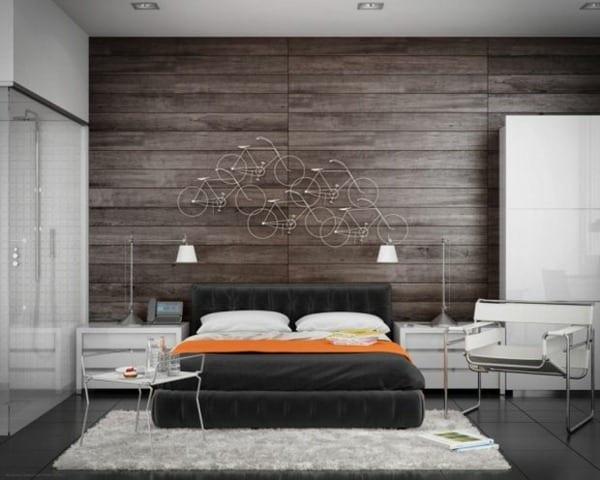 ideen schlafzimmer mit badezimmer weiß und kreative wandgestaltung _schlafzimmer möblierung weiß