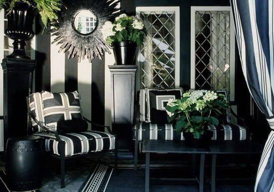 Stylisches Wohnzimmer : stylisches wohnzimmer mit schwarzem teppich ...
