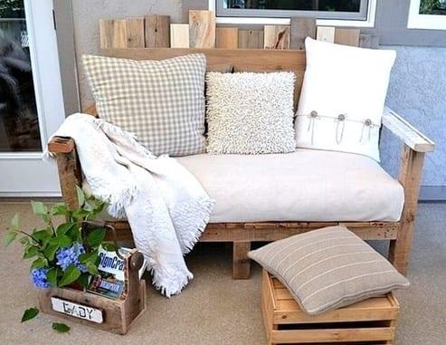 moderne gartenmöbel aus paletten für die terrasse