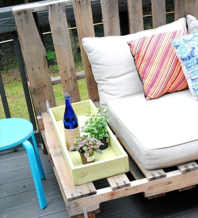möbel aus paletten für die terrasse