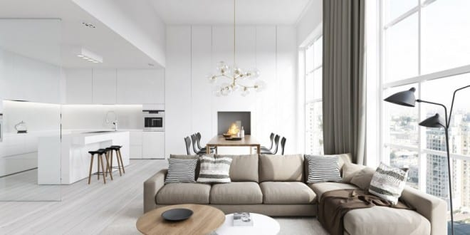 stylisches wohnzimmer inspirationen mit rundem couchtisch holz, Wohnideen design