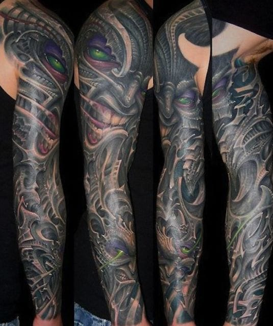 53 designs f r tattoo biomechanik freshouse for Arm mural tattoos