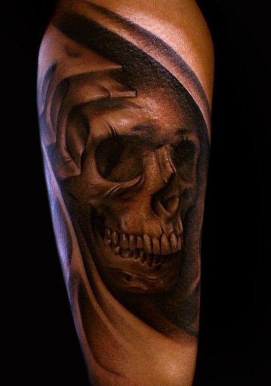 totenkopf tattoo idee
