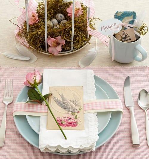 romantische dekoideen in blau und rosa zu ostern 2015