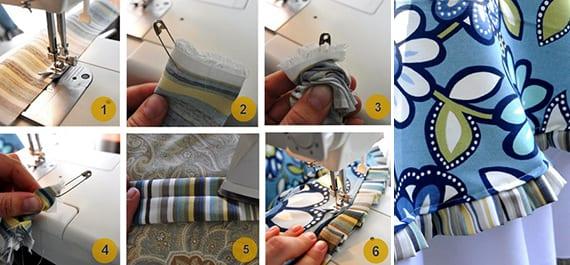 DIY runde tischdecke